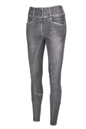 Pikeur Rijbroek Candela Grip Jeans Light Grey